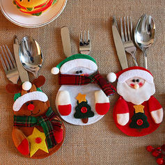 Christmas Tableware Holder Cloth Holiday Decoration