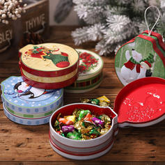 Merry Christmas Metal Candy Jars