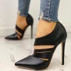 Femmes Suède PU Talon stiletto Escarpins chaussures