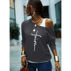 Print Figur rund hals Lange ærmer Sweatshirts
