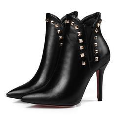 Dla kobiet Skóra ekologiczna Obcas Stiletto Kozaki Botki obuwie
