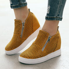 Women's Leatherette Casual With Zipper Hollow-out shoes