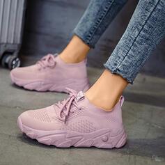 Mulheres Pano Malha Casual Outdoor com Faixa Elástica sapatos