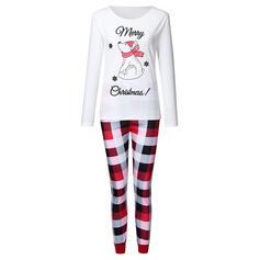 Bear Pläd Print Matchande familj Jul Pyjamas