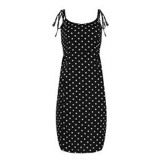 PolkaDot Sleeveless Sheath Knee Length Sexy/Casual/Vacation Dresses