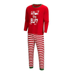 Letter Striped Print Family Matching Christmas Pajamas