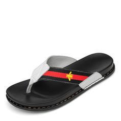 Hombres Casual Piel Zapatillas de andar por casa de caballero