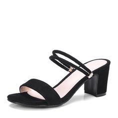 De mujer Ante Tacón ancho Sandalias Salón Encaje Solo correa zapatos