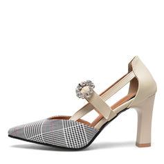 Femmes PU Talon bottier Escarpins avec Brodé Boucle chaussures