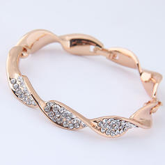 Beautiful Alloy Rhinestones With Rhinestone Women's Fashion Bracelets (Sold in a single piece)