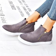 Women's Suede Casual Outdoor With Zipper shoes