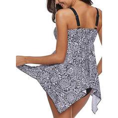 Floral Halter Elegant Fashionable Swimdresses Swimsuits