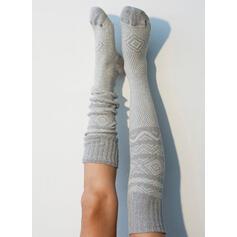 Геометричний друк Дихаючий/Жіночі/Шкарпетки до колін Шкарпетки/Панчохи