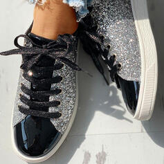 Women's Sparkling Glitter Casual Outdoor With Sequin Sparkling Glitter Lace-up shoes
