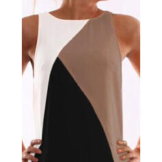 Color Block Sleeveless Bodycon Above Knee Casual/Vacation Dresses