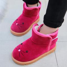 Mädchens Veloursleder Geschlossene Zehe Schneestiefel Flache Schuhe