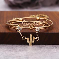 """""""Aimez-vous"""" Alliage Strass avec Strass Femmes Bracelets (Lot de 4)"""