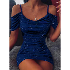 Print Short Sleeves Bodycon Above Knee Little Black/Sexy/Party Dresses