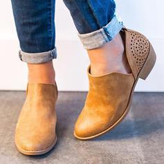 Frauen Kunstleder Niederiger Absatz Sandalen Martin Stiefel mit Andere Schuhe