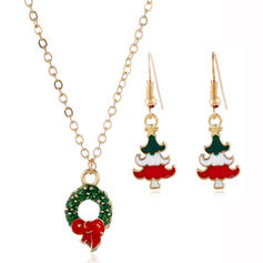 Christmas Tree Alloy Jewelry Sets Christmas Jewelry (Set of 2)