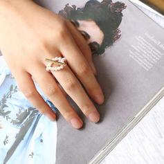 Mooi Legering Parel Vrouwen Ringen