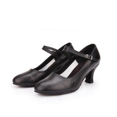 De mujer zapatos de personaje Tacones Piel con Hebilla Danza latina