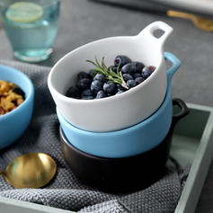 Simple Porcelain Salad Bowls