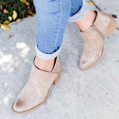 De mujer Ante Tacón ancho Sandalias Salón con Cremallera zapatos