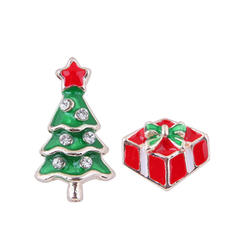 Christmas Tree Alloy Earrings Christmas Jewelry