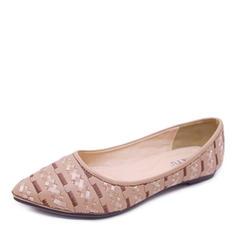 Donna Similpelle Senza tacco Ballerine Punta chiusa con Con risvolto scarpe