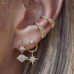 På mode Chic Legering Rhinsten med Stjerne Kvinder Ladies ' øreringe 4 stk
