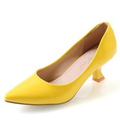 Women's Leatherette Kitten Heel Pumps Closed Toe shoes