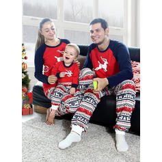 Reindeer Color-block Family Matching Christmas Pajamas