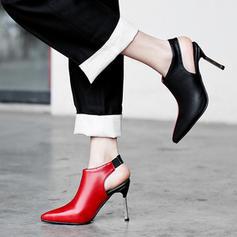 Women's Leatherette Stiletto Heel Pumps Closed Toe With Split Joint shoes