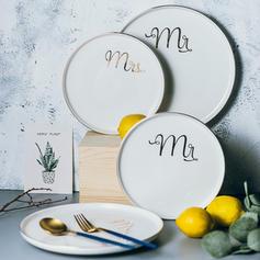 Solid Rond Porcelaine Assiettes à dessert