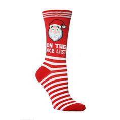 Unisex Merry Christmas Snowman Reindeer Santa Cotton Stockings Christmas Socks