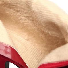 Mulheres Camurça Salto agulha Bombas Botas na panturrilha com Zíper Button sapatos