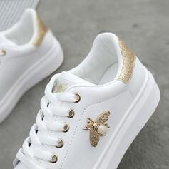 De mujer PU con Perlas de imitación Cordones zapatos