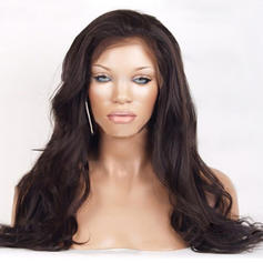 4A Non remy Wavy Human Hair Full Lace Cap Wigs (Sold in a single piece)