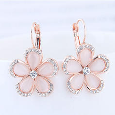 Flower Shaped Alloy Rhinestones With Rhinestone Women's Fashion Earrings (Set of 2)