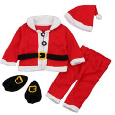 Kerstmis vrolijk kerstfeest de kerstman Katoen Kerst Ornements (Set van 4)