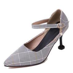 Dla kobiet Tkanina Obcas Stożek Czólenka Zakryte Palce Z Klamra obuwie