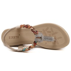 Naisten Keinonahasta Wedge heel Sandaalit jossa Tekojalokivi kengät