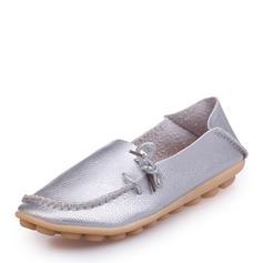 Kvinnor Konstläder Platta Skor / Fritidsskor Stängt Toe med Split gemensamma skor
