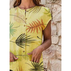 Print Short Sleeves Casual Dresses