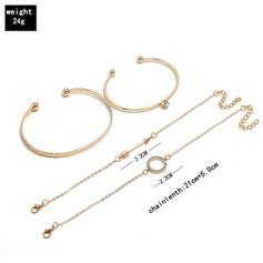 élégant Alliage Femmes Bracelets de mode (Lot de 4)