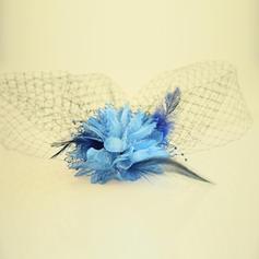 Dames Beau Fil net/Fleur en soie Chapeaux de type fascinator