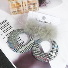 Leopard Tissu Femmes Boucles d'oreille de mode (Vendu dans une seule pièce)