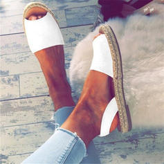 Women's Suede Flat Heel Sandals With Others shoes