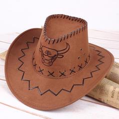 Men's Vintage Faux Leather Cowboy Hats